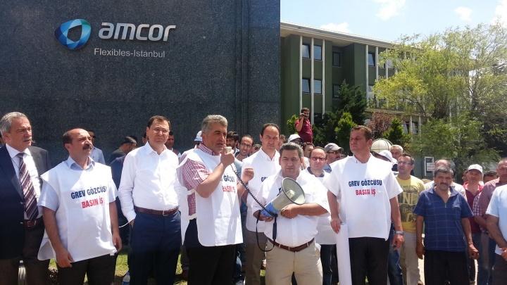 Amcor Ambalaj'da Grev Başladı