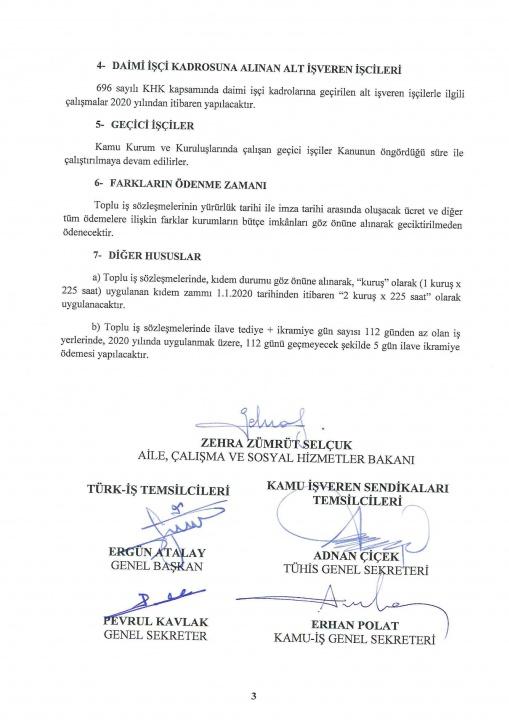 Kamu Toplu İş Sözleşmeleri Çerçeve Anlaşma Protokolü İmzalandı...