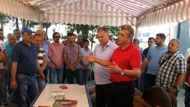 BASIN-İŞ KIRKLARELİ'DE CAM EMEKÇİLERİNİN YANINDA ...
