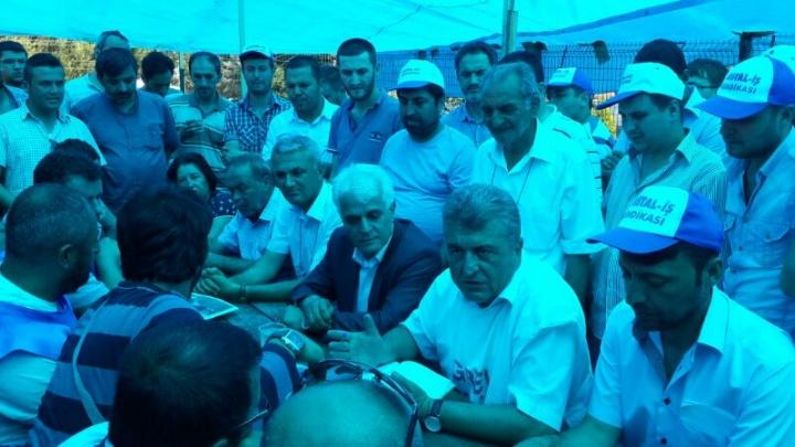 BASIN-İŞ BURSA'DA CAM EMEKÇİLERİNİN YANINDA ...